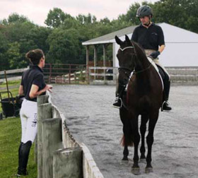 Barbara Strawson teaches dressage lessons